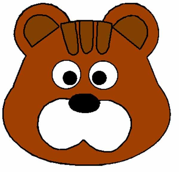 давно маска медведя раскраска на голову из бумаги распечатать будет