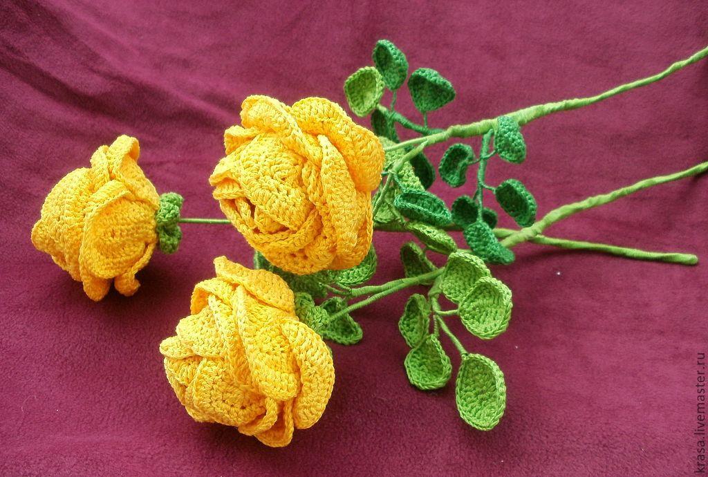 признаю вязаные цветы для открытки постирать белье