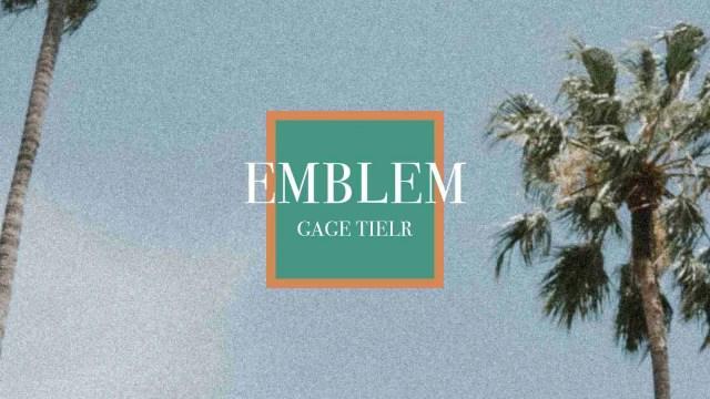Rapper Gage Tielr drops new single Emblem Cover Art