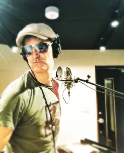 Kev Gray in the studio - Kev Gray and The Gravy Train