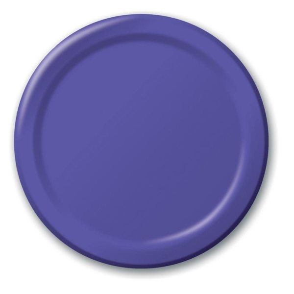 "Purple 9"" Dinner Paper Plates - Doolins"