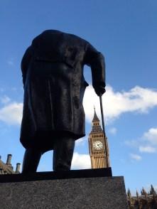 Churchill veille sur Big Ben et le Parliament