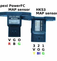 sensors manifold air pressure map comparison [ 1024 x 768 Pixel ]