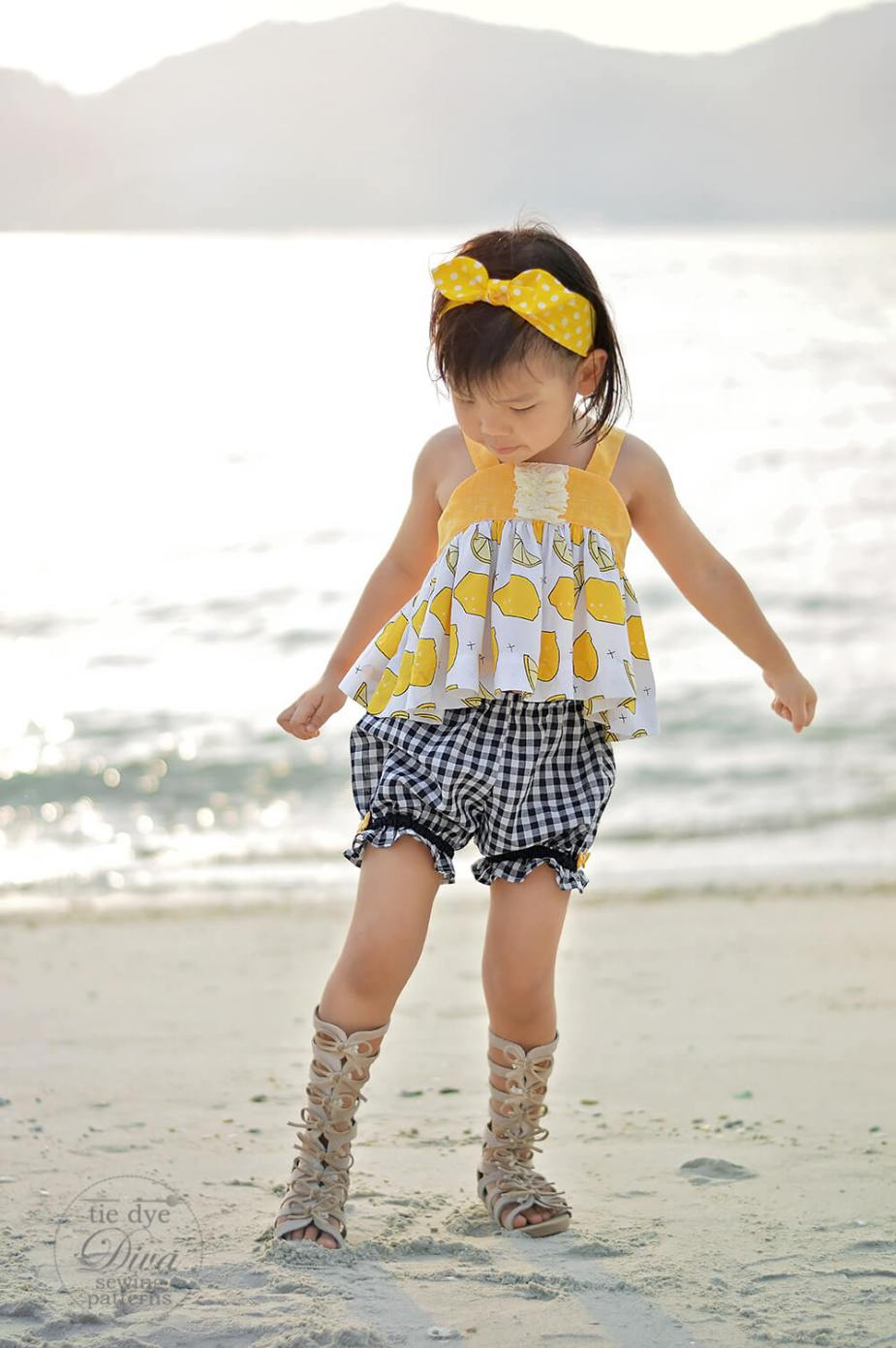 girls pantaloons shorts pdf sewing pattern