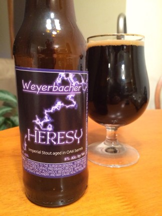 681. Weyerbacher - Heresy Imperial Stout aged in Oak Barrels