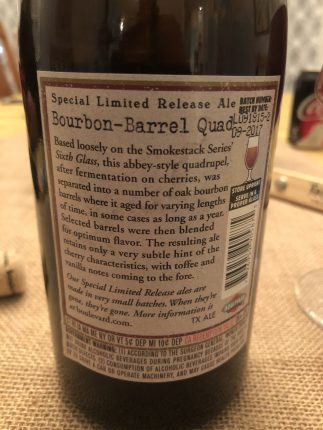 942. Boulevard Brewing - 2015 Bourbon Barrel Quad