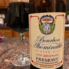890. Fremont Brewing – 2012 Bourbon Barrel Abominable Winter Ale