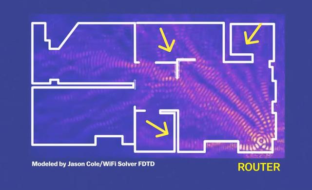Nếu đặt Router ở góc phòng, sóng Wifi sẽ phát đi rất yếu và gặp nhiều vật cản.