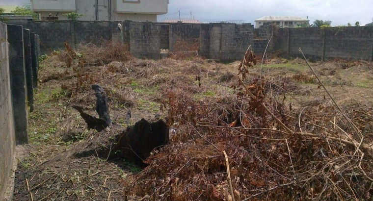 Cheap land for sale   A fenced two plots of land at Islamic Village, Gerewu Ilorin