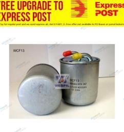 details about wesfil fuel filter wcf13 fits chrysler 300 c 3 0 crd [ 1000 x 1000 Pixel ]