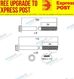 1980 1984 for isuzu sbr480 6bd1 head bolt set ebay 6bb1 isuzu engine diagram [ 1000 x 1000 Pixel ]