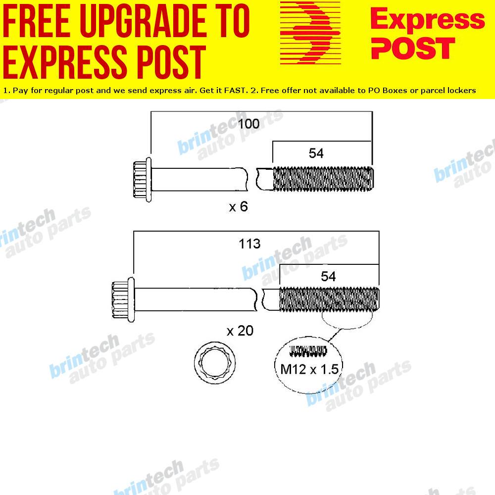 hight resolution of 1980 1984 for isuzu sbr480 6bd1 head bolt set ebay 6bb1 isuzu engine diagram