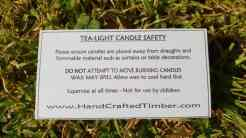 tealight candle safety instructions