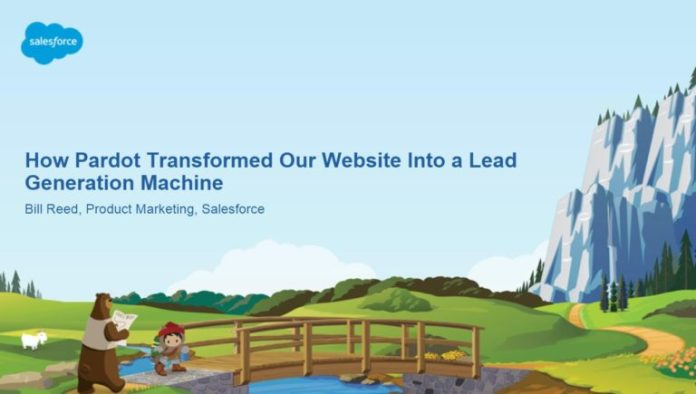 how Salesforce did web site optimization for pardot.com