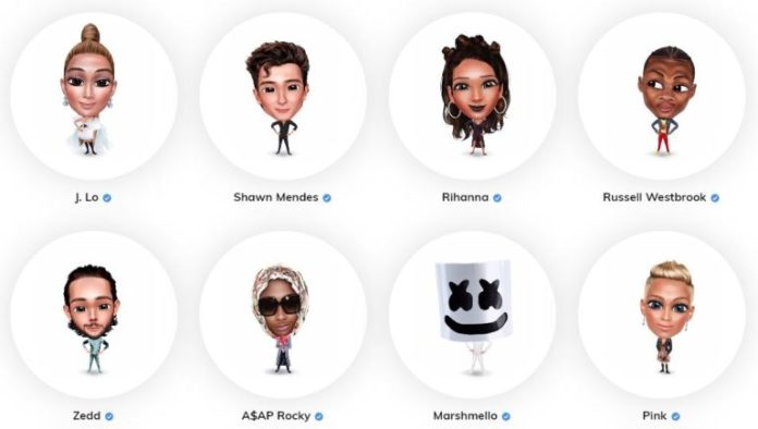 examples of celebrities who use Genies avatar app