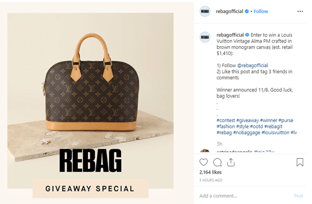 Instagram marketing for ecommerce running contests and giveaways