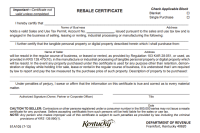 How to Use a Kentucky Resale Certificate