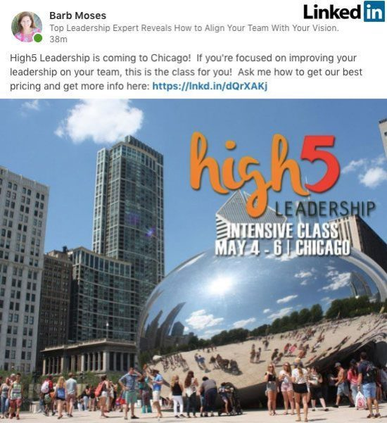 Social media ad example - LinkedIN Ad