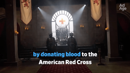 SXSW Game of thrones bleed for the throne activation