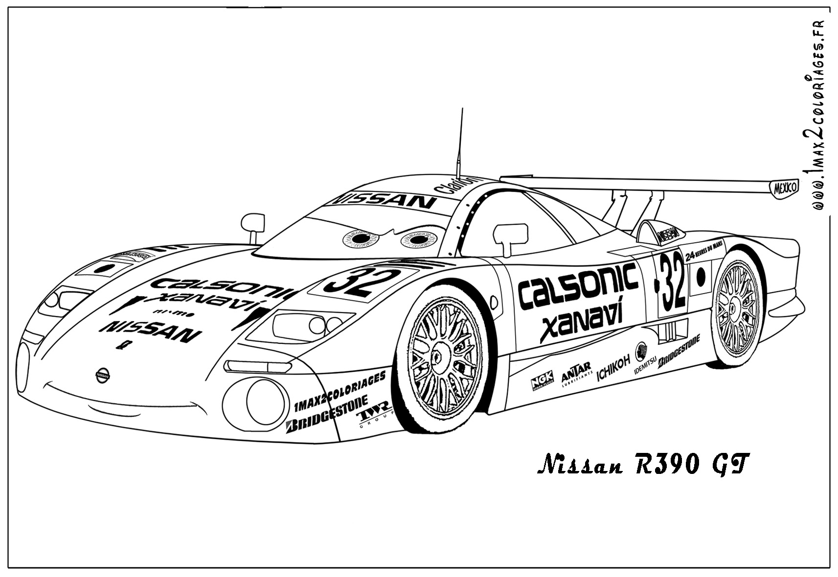 Free coloring pages of audi r-8