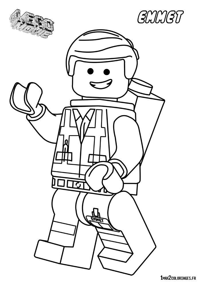 coloriage personnage lego le film  à imprimer