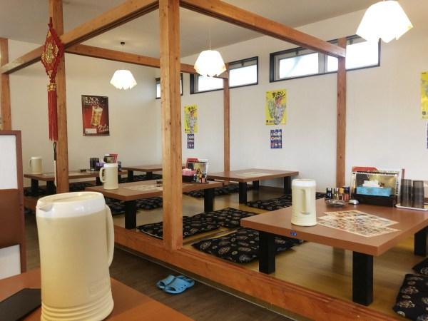 スタミナ食堂の座敷席