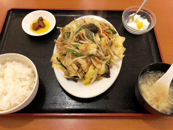 君津スタミナ食堂の肉野菜スタミナ定食