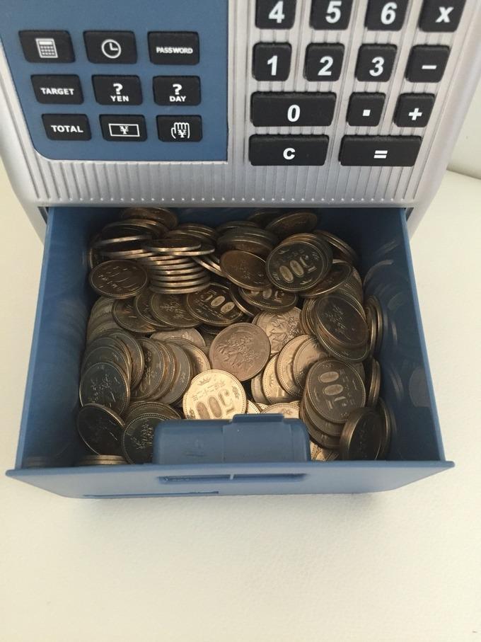 貯金箱の500円玉1