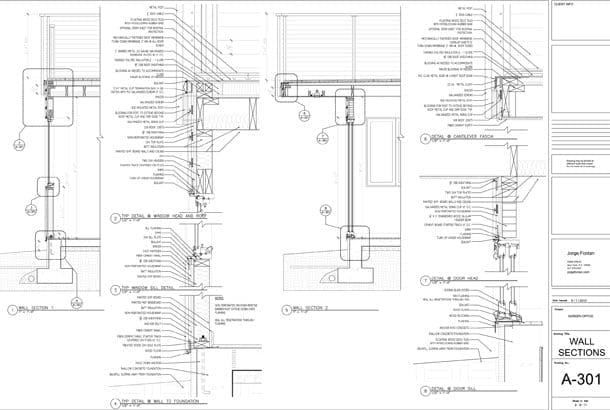 architecture section diagram 2000 ford expedition window wiring phases of design fontan architectural plans details