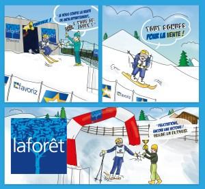 ILLUSTRATION-LAFORET-mailing-pub - 1 Noiseau à Paris - Graphiste illustratrice Webdesigner Val de Marne