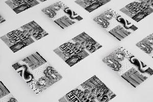 ILLUSTRATION-noir et blanc-numero - 1 Noiseau à Paris - Graphiste illustratrice Webdesigner Val de Marne