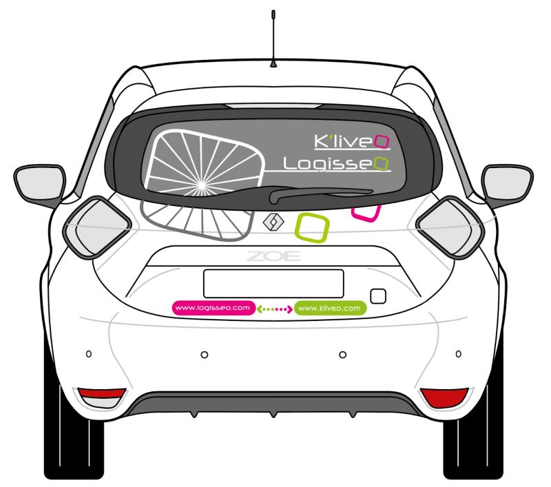SIGNALETIQUE-LOGISSEO-vehicule-sticker - 1 Noiseau à Paris - Graphiste illustratrice Webdesigner Val de Marne