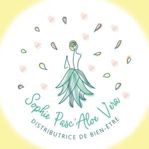 Logotype Sophie Pasc'Aloe Vera - Réalisation 1N'oiseau à Paris Graphiste Illustratrice