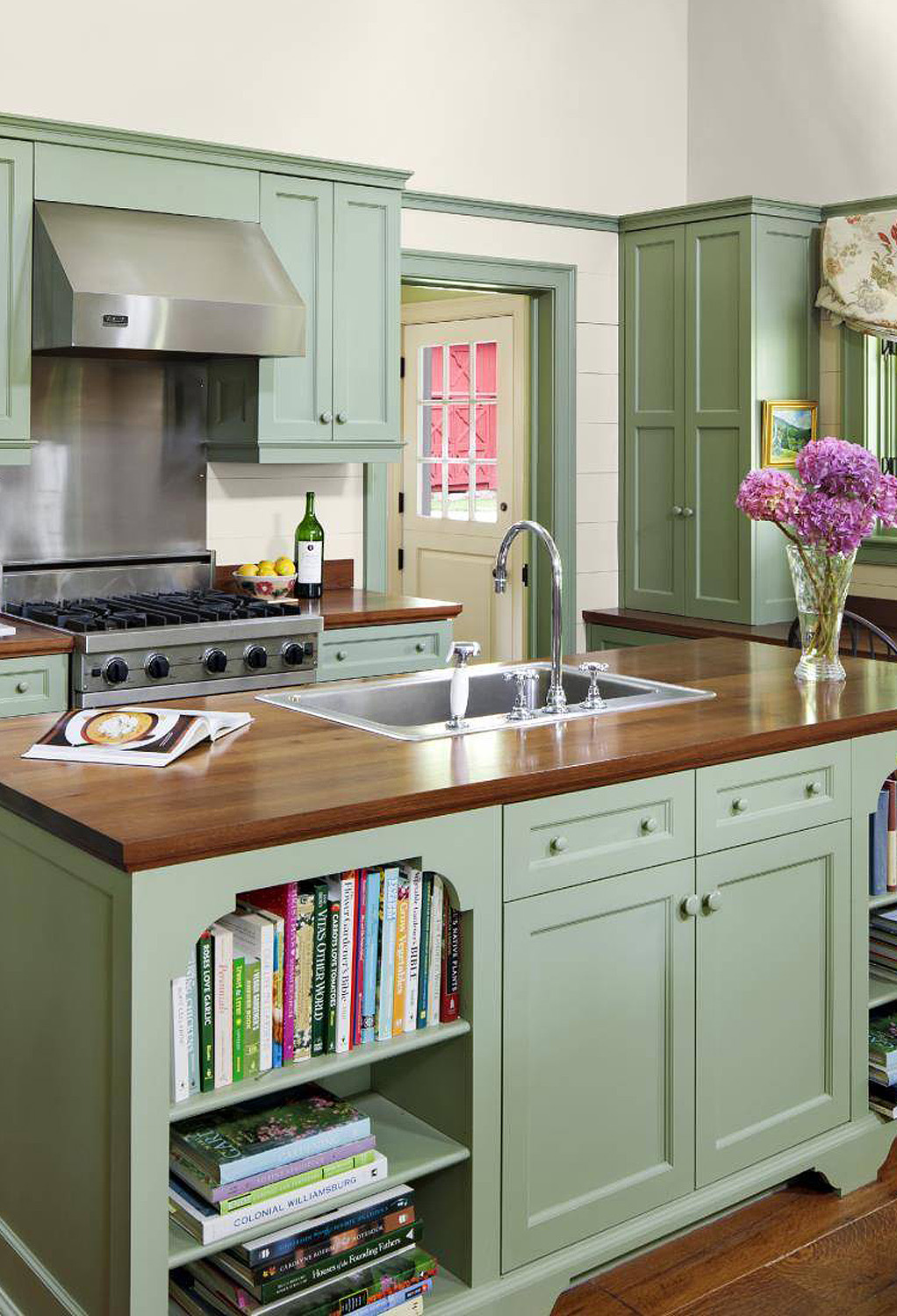 34 Top Green Kitchen Cabinets
