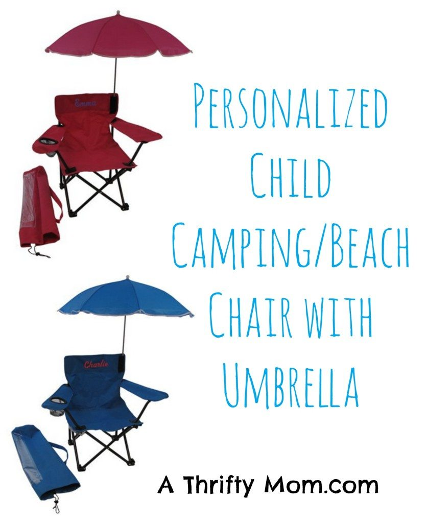 child camping chair stretch covers for wing chairs uk personalized and beach with umbrella gift idea or