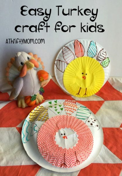 Easy turkey craft for kids, kids craft, fall craft, thanksgiving craft, craft, thrifty craft ideas, craft
