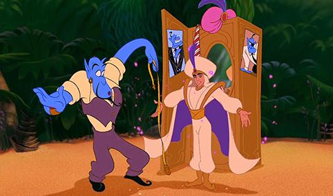 Habillage (Aladdin par le génie)