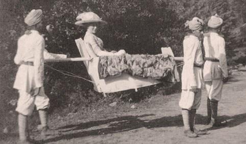 Chaise à porteurs handicap