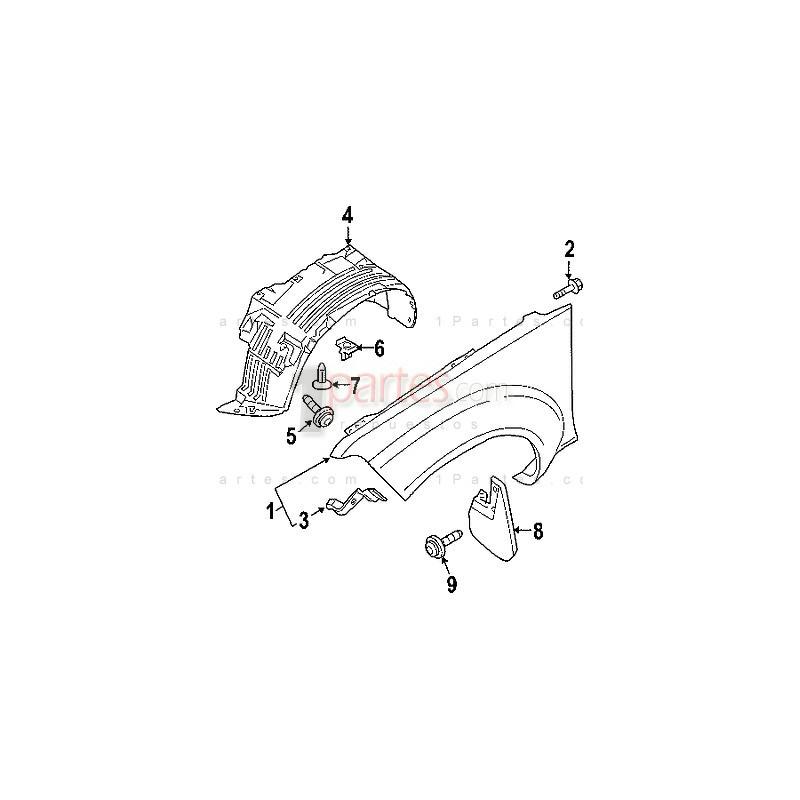 Guardapolvo derecho (copiloto)|Nissan|Navara|Frontier