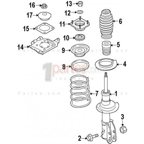 Base de amortiguador|Mazda|CX-7|TD1134380B|Grupo