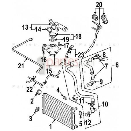 Manguera de descarga Volkswagen VW Bora Jetta Golf Audi A3