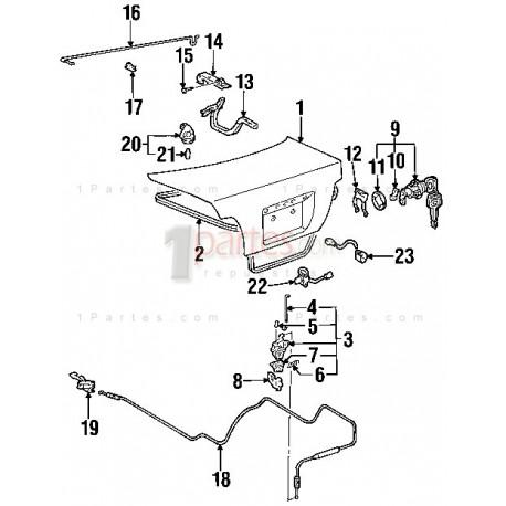 Compuerta|Toyota|Corolla|Prizm|E120|E130|E110|ZZE1||Grupo