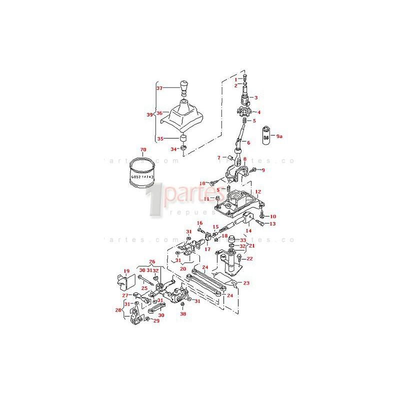 Varilla selectora Skoda Octavia 1J711596E Grupo: Transmisión