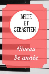 Partition et cours pour apprendre à jouer Belle et Sébastien au piano.