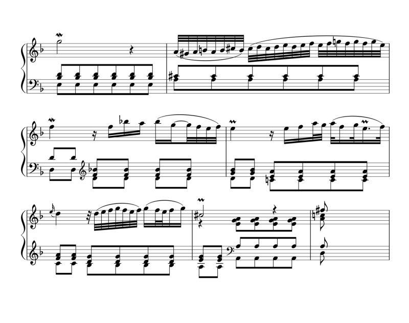 Marcello Bach Adagio BWV 974, 2e partie