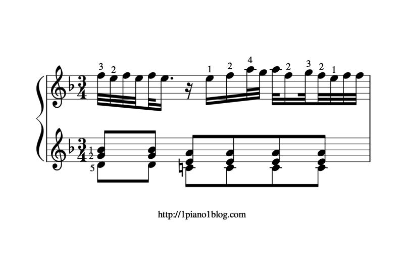 Bach, Marcello ornements mesure12