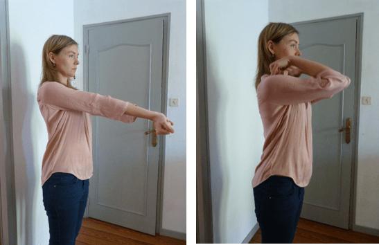 Exercices de souplesse pour les coudes pour le piano