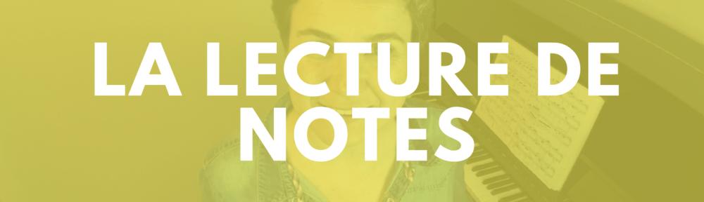 lecture de notes