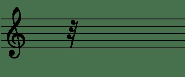 le symbole du huitième de soupir avec ses 3 crochets