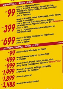 Cebu Pacific Promo Fare 2013: August, September, October